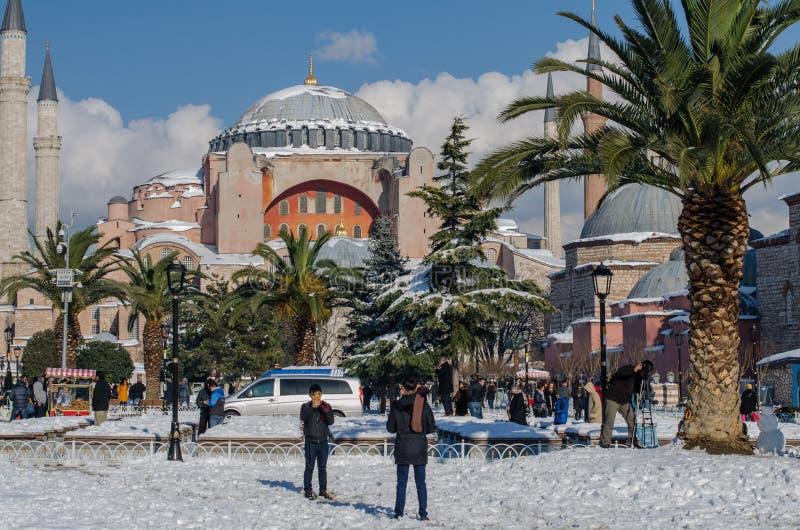 Turismo di inverno immagine stock