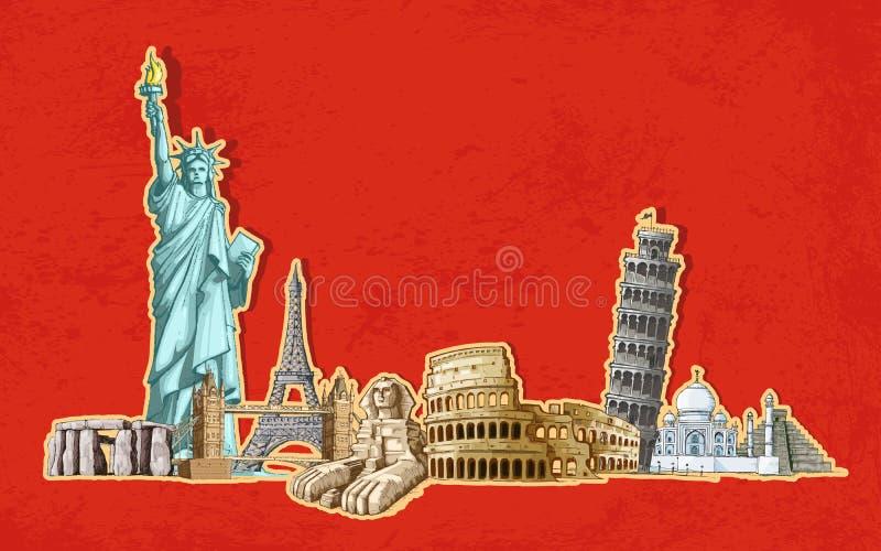 Turismo do mundo ilustração royalty free