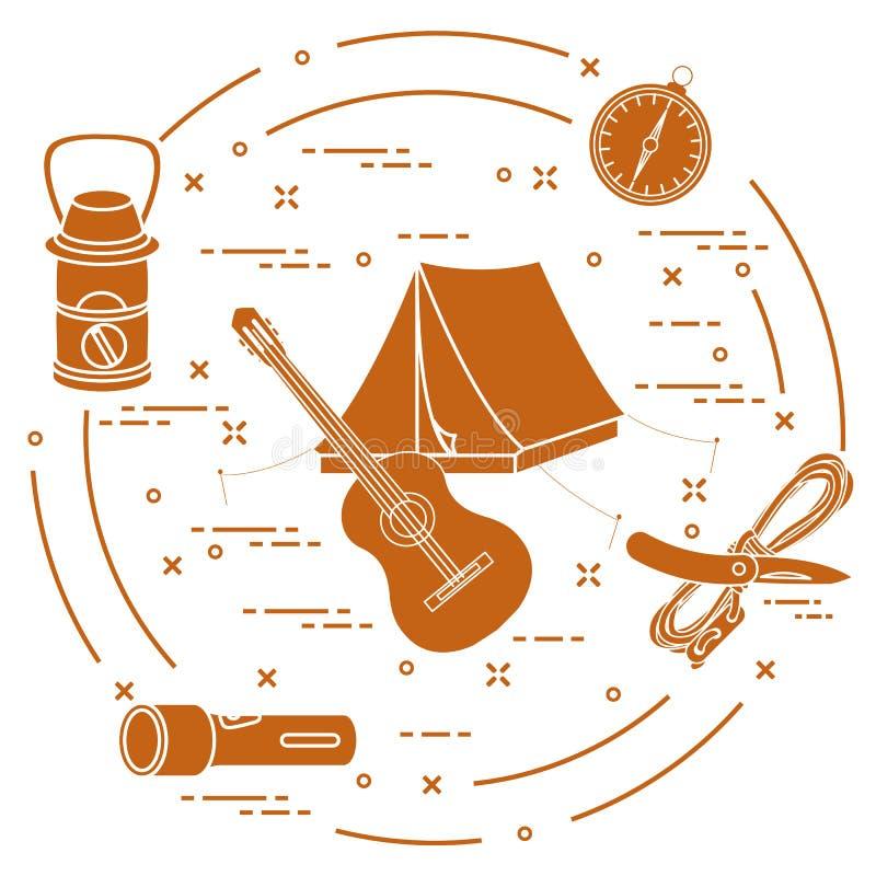 Turismo e ricreazione all'aperto illustrazione di stock