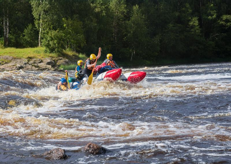 Turismo estremo Trasportare del fiume fotografia stock libera da diritti