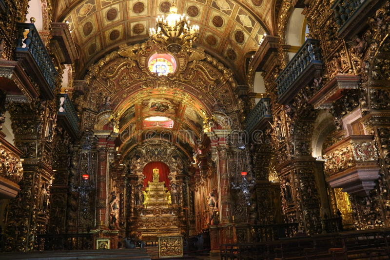 Turismo religioso em Rio de janeiro Downtown fotografia de stock