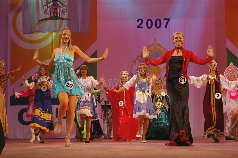 turismvärld för 2007 miss russia sochi arkivbilder