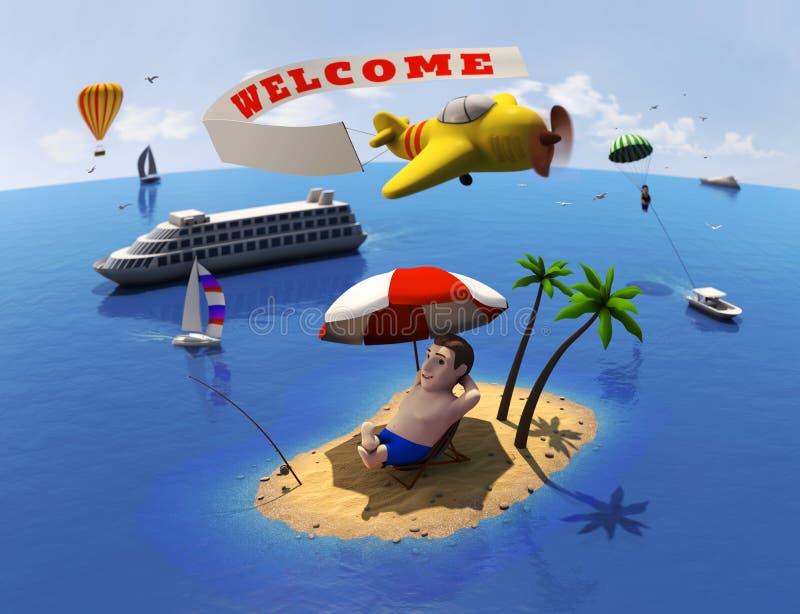 Download Turist stock illustrationer. Illustration av resa, yacht - 27283519