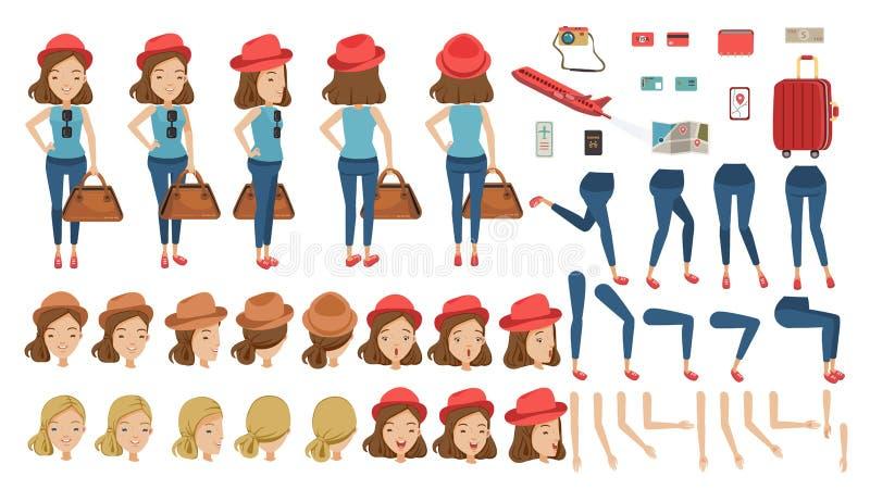 Turist royaltyfri illustrationer