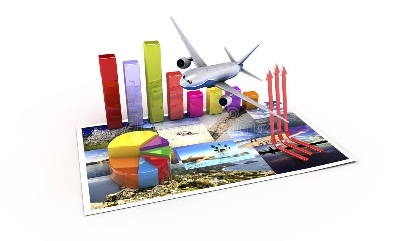 Turist- ekonomi royaltyfri illustrationer