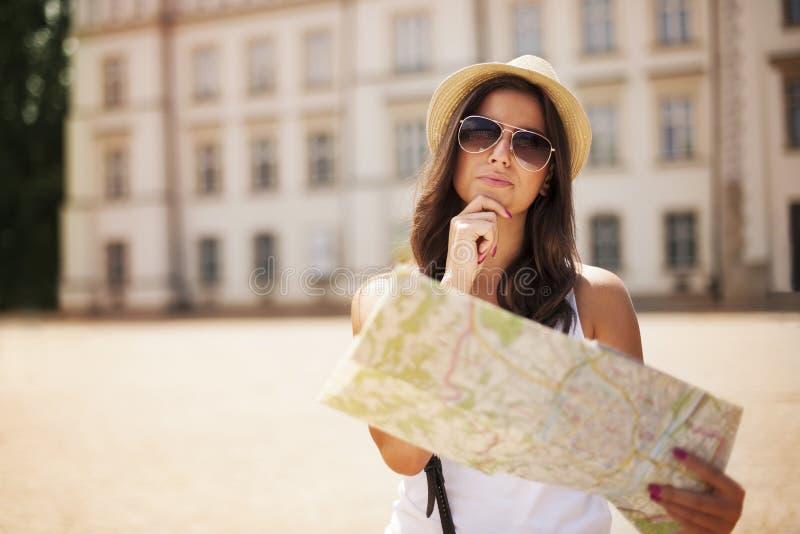 Turist- flicka arkivbild