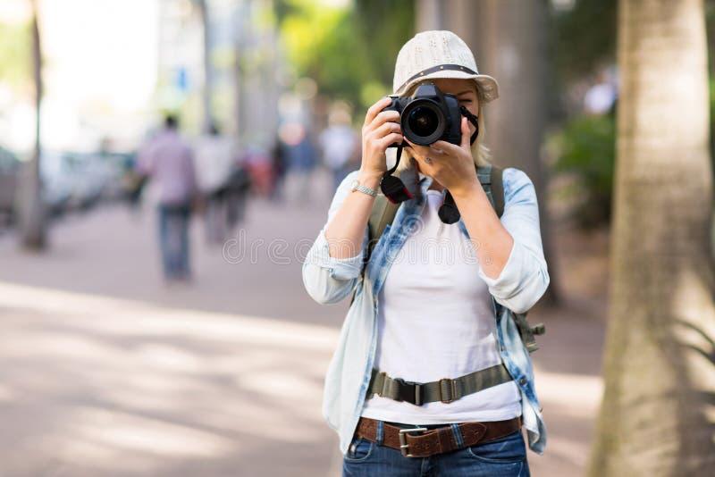 Turist- gatafoto arkivfoto