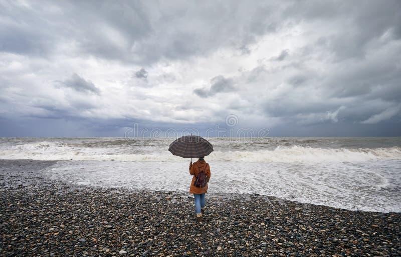 Turist i Batumi royaltyfria bilder