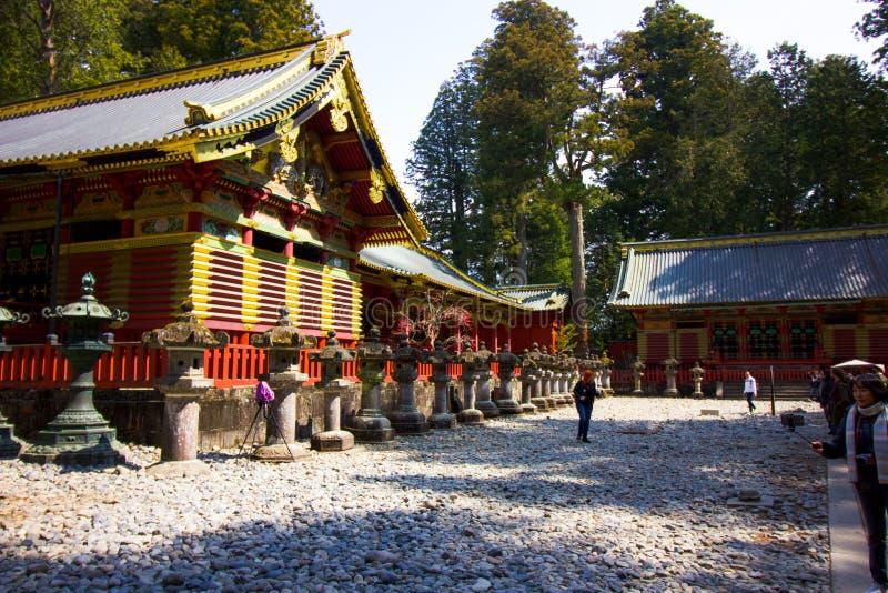 Turist- i jordningen av templet fotografering för bildbyråer