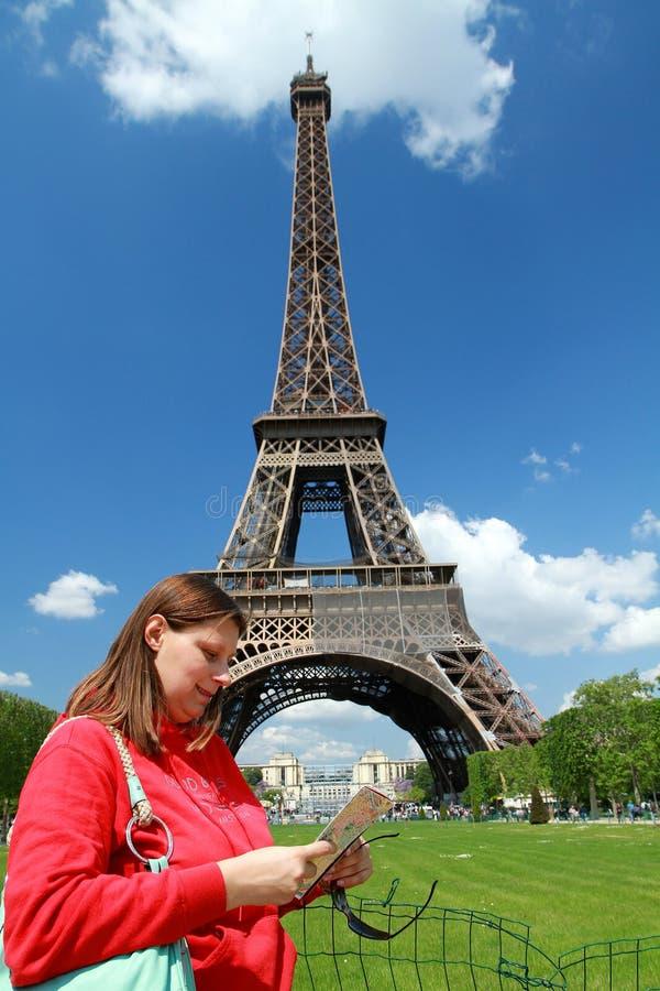 A turist near Tour Eiffel