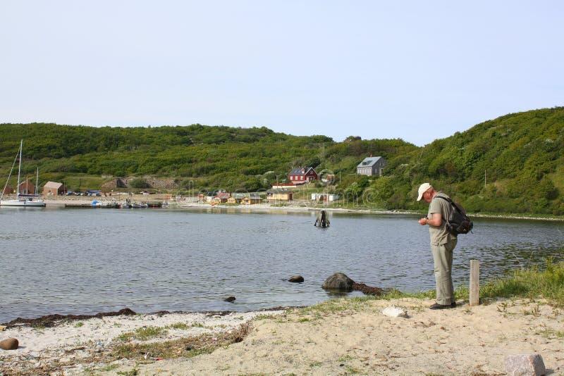 Turist på Östersjön arkivfoto
