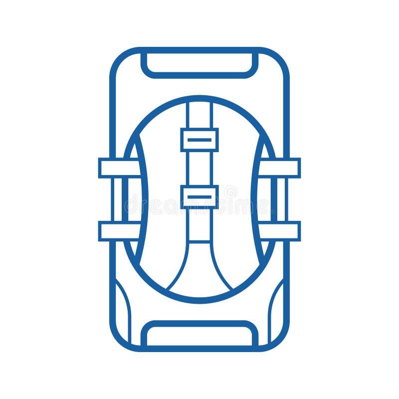 Turist- ryggsäcksymbol vektor illustrationer