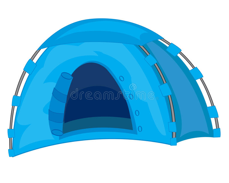 Turist- tent stock illustrationer
