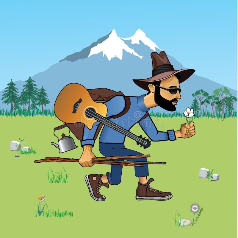 Turista royalty illustrazione gratis