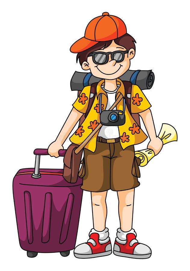 Turista illustrazione di stock