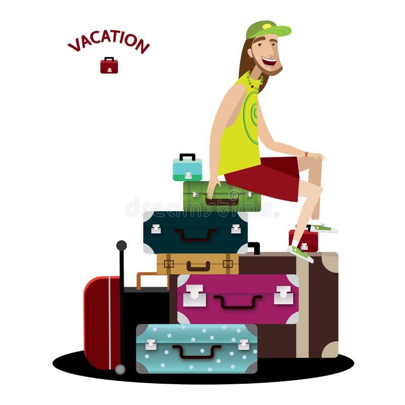 Turista stock de ilustración
