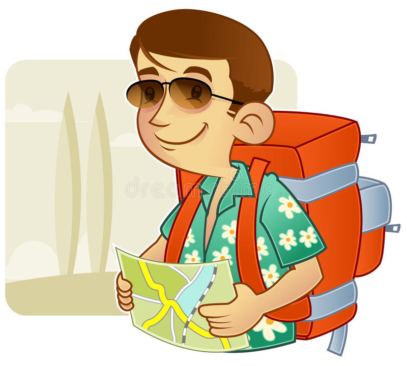 Turista - backpacking royalty illustrazione gratis