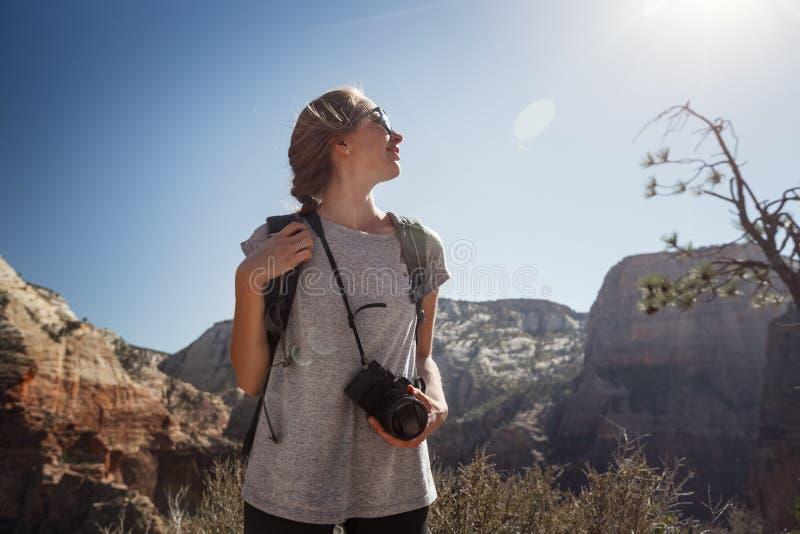 Turista con la cámara fotos de archivo