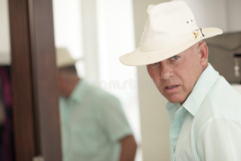 Turista con un cappello fotografia stock