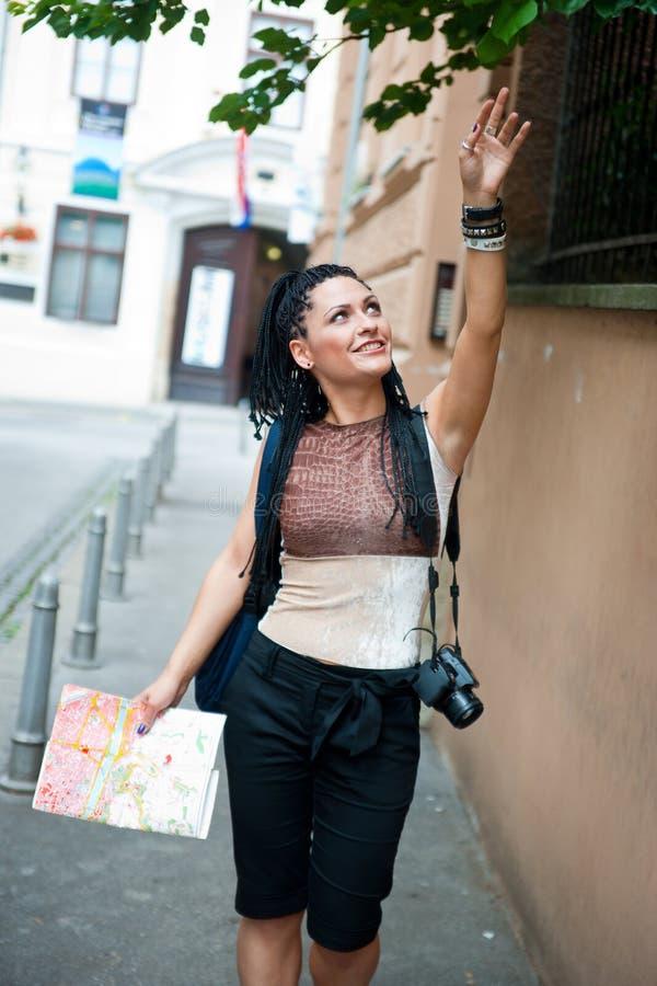 Turista da mulher foto de stock