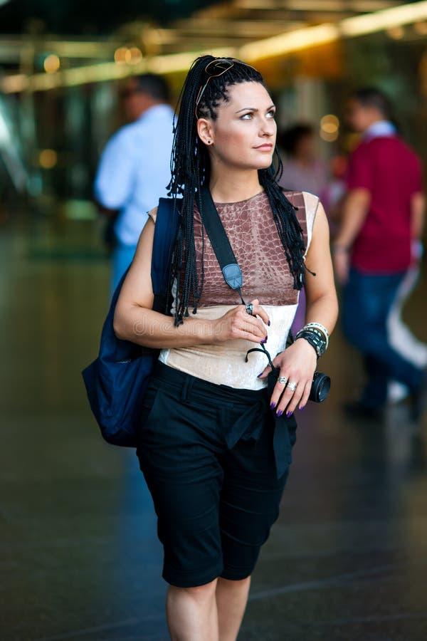Turista da mulher fotografia de stock royalty free