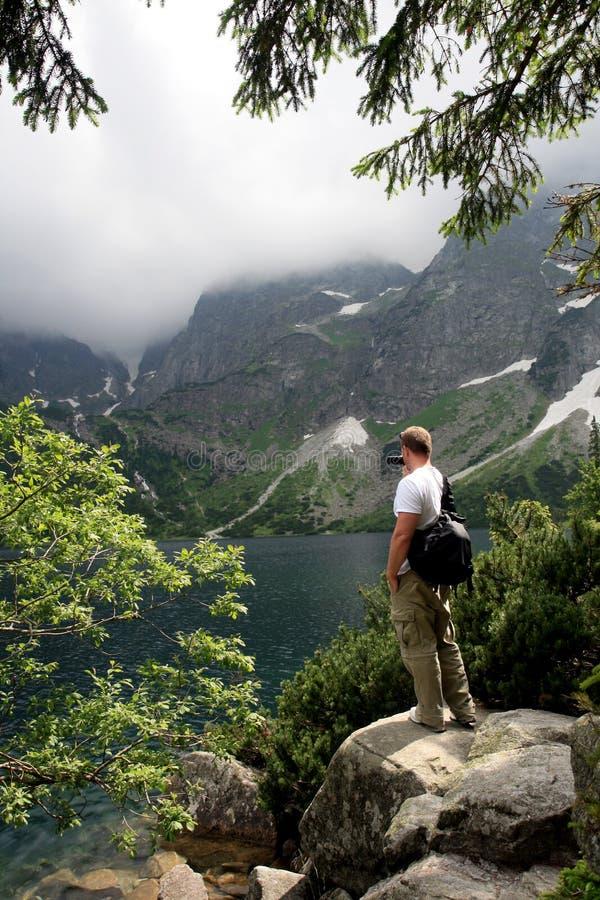 Turista de la montaña foto de archivo libre de regalías