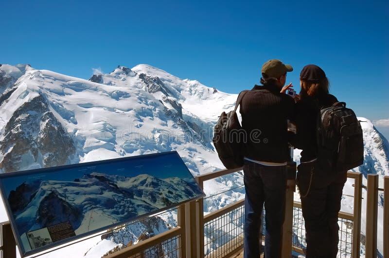 Turista de la montaña imagen de archivo libre de regalías