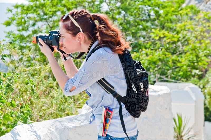 Turista de la mujer fotos de archivo libres de regalías
