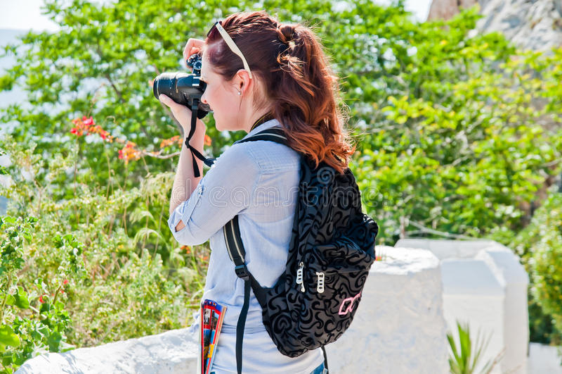 Turista de la mujer imagen de archivo
