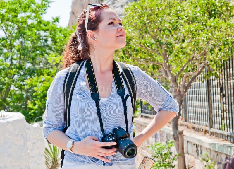 Turista de la mujer fotografía de archivo libre de regalías