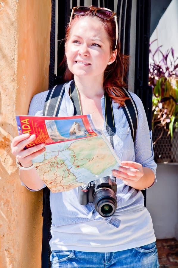 Turista de la mujer foto de archivo libre de regalías