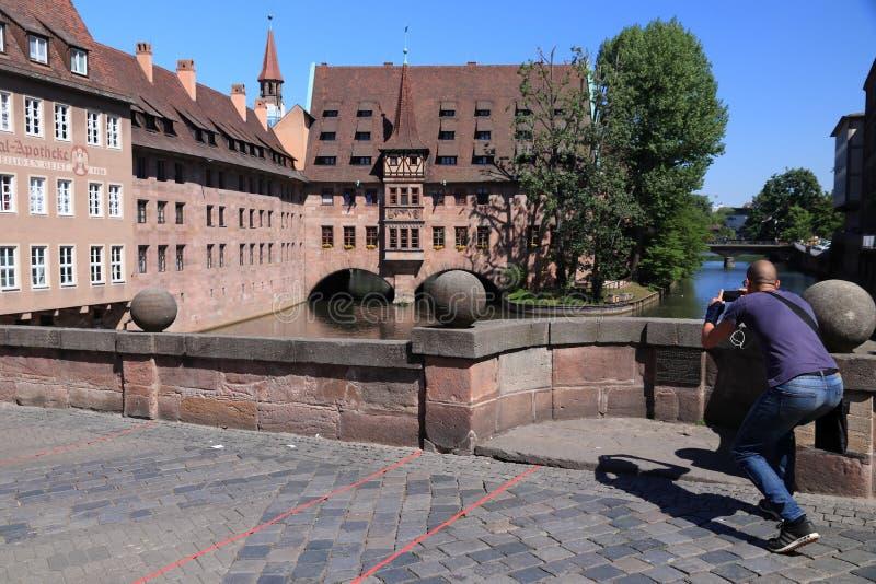 Turista de Nuremberg imagenes de archivo