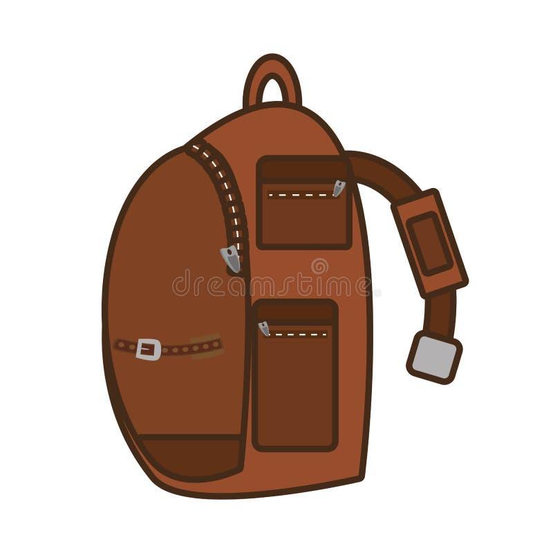 Turista del bolso del viaje de la correa del bolsillo de Packback ilustración del vector