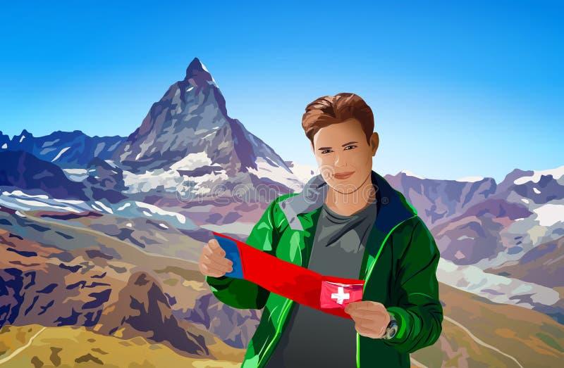Turista del hombre libre illustration