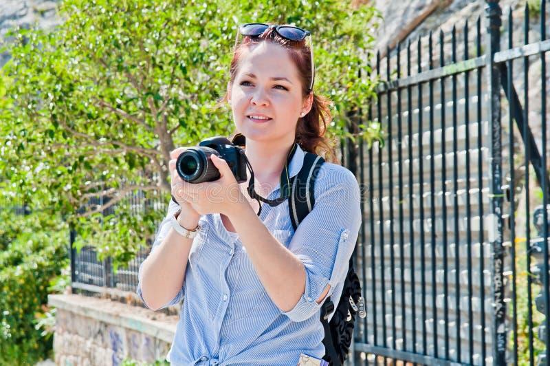 Turista della donna fotografie stock