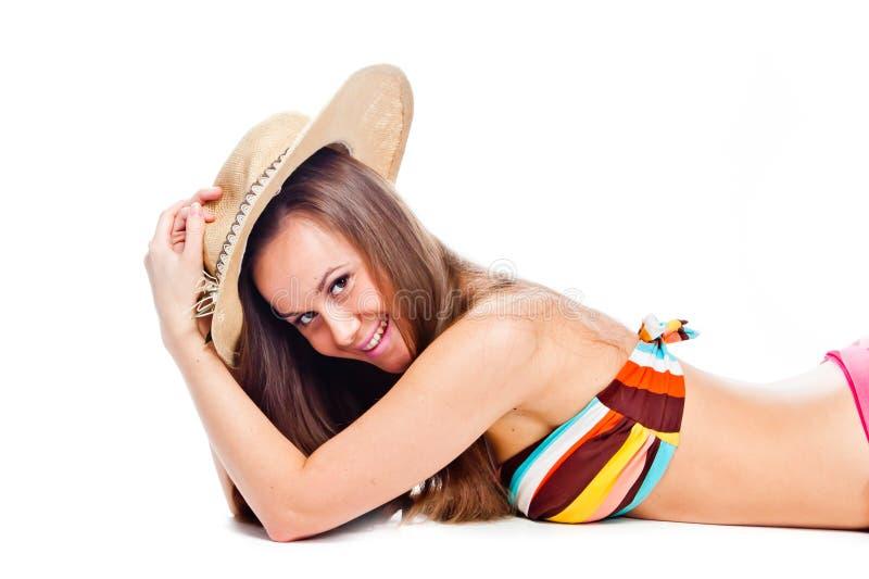 Turista della donna immagini stock libere da diritti