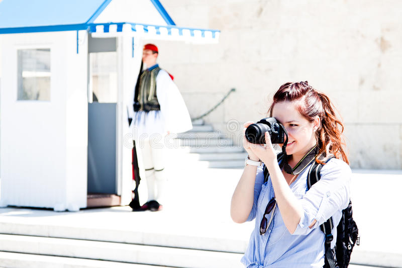 Turista della donna immagine stock libera da diritti