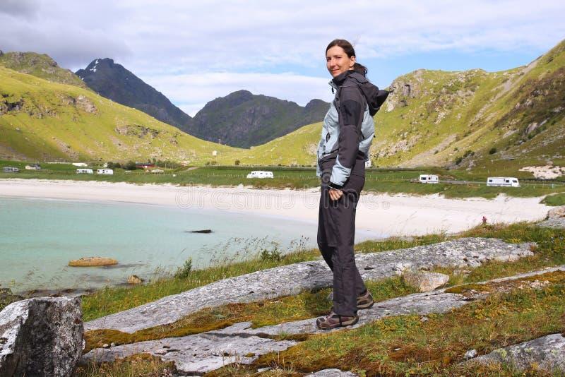 Turista della donna fotografie stock libere da diritti