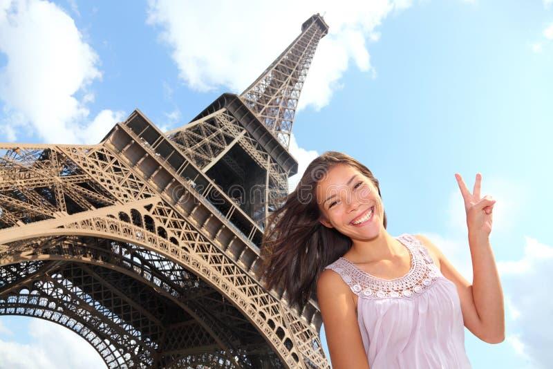 Turista della Torre Eiffel fotografie stock libere da diritti