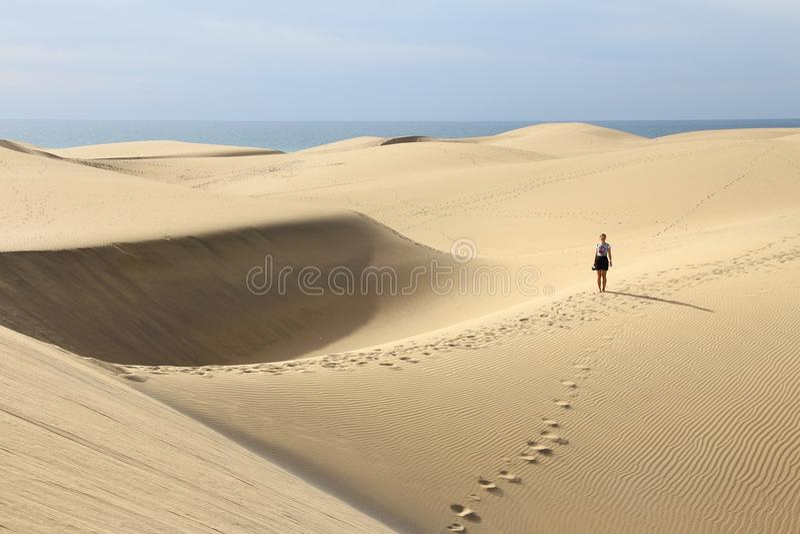 Turista di Gran Canaria fotografia stock libera da diritti