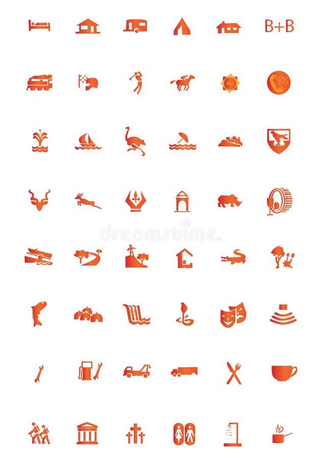 Turista dos ícones ilustração royalty free