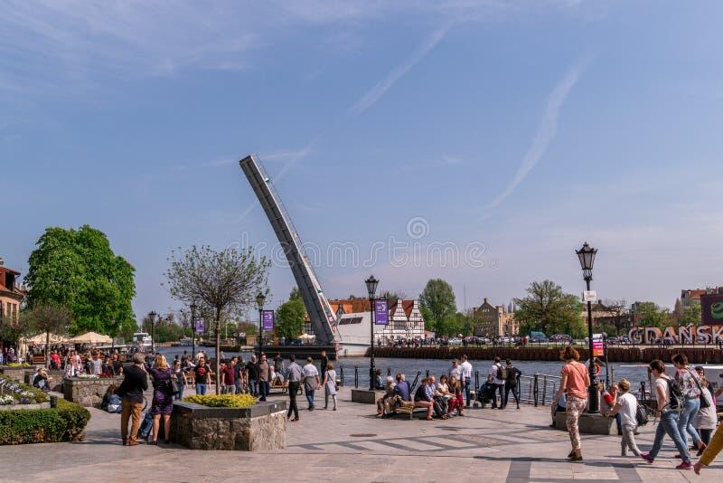 Turista em Gdansk, Polônia imagens de stock royalty free