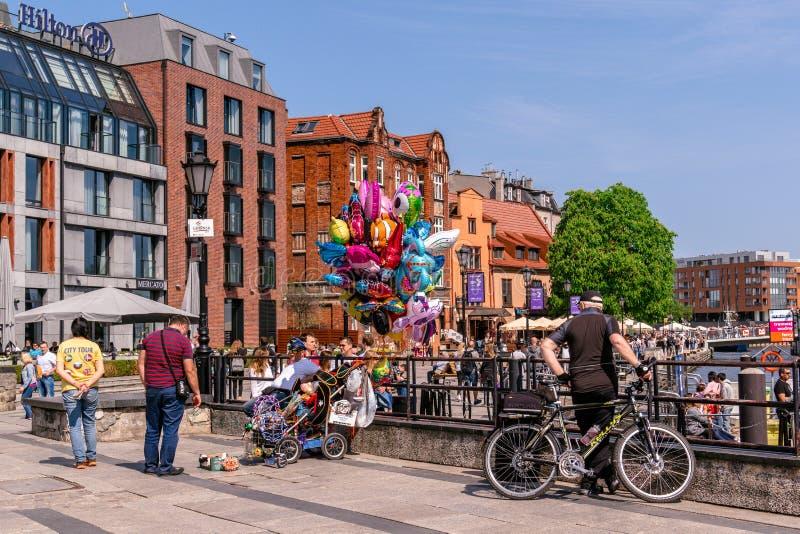 Turista em Gdansk, Polônia fotografia de stock royalty free