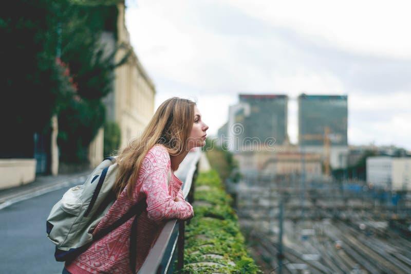 Turista em Genebra fotos de stock