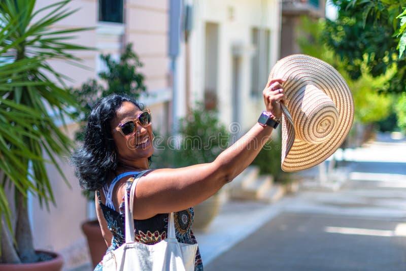 Turista en Atenas Grecia imagen de archivo libre de regalías