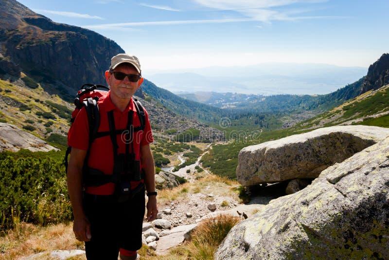 Turista en el dolina eslovaco de Mlynicka fotos de archivo libres de regalías