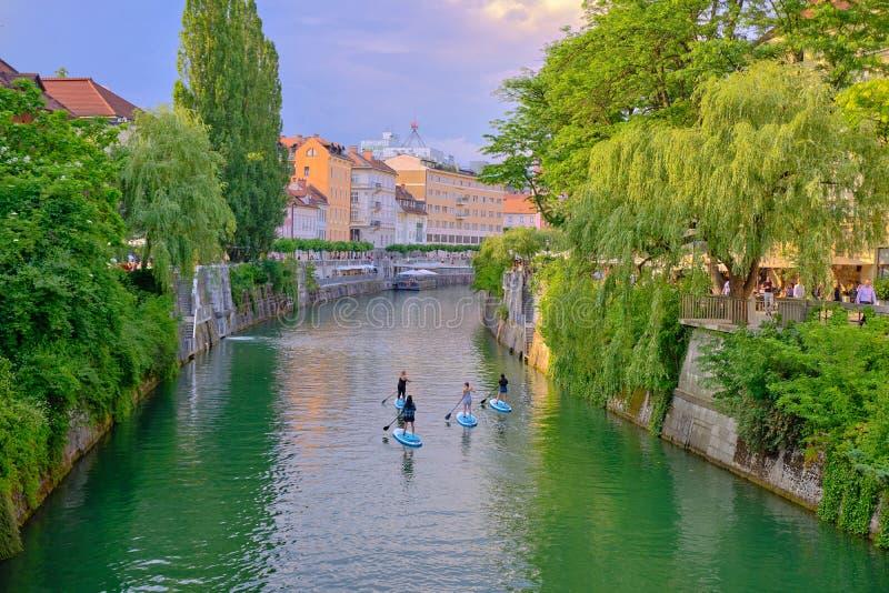 Turista en Eslovenia foto de archivo