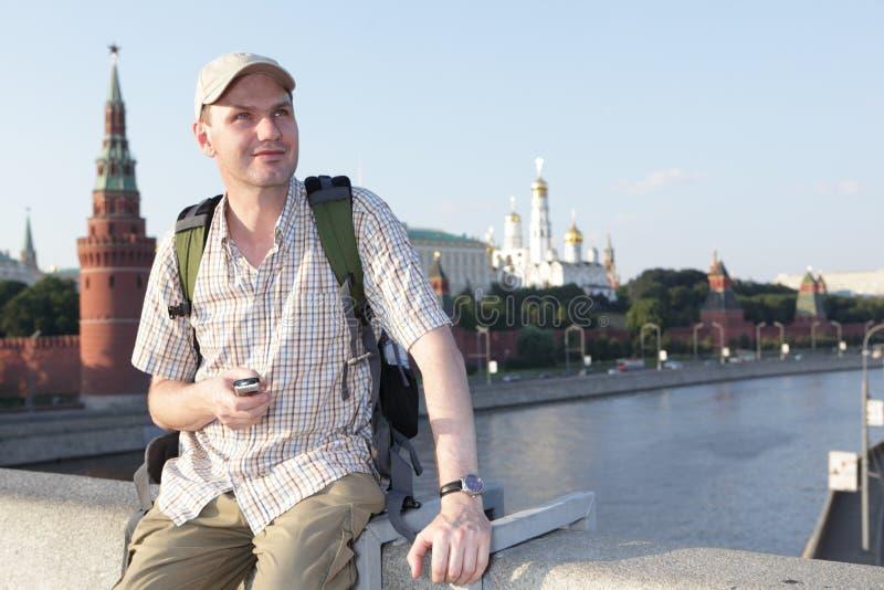 Turista en Moscú, Rusia fotos de archivo