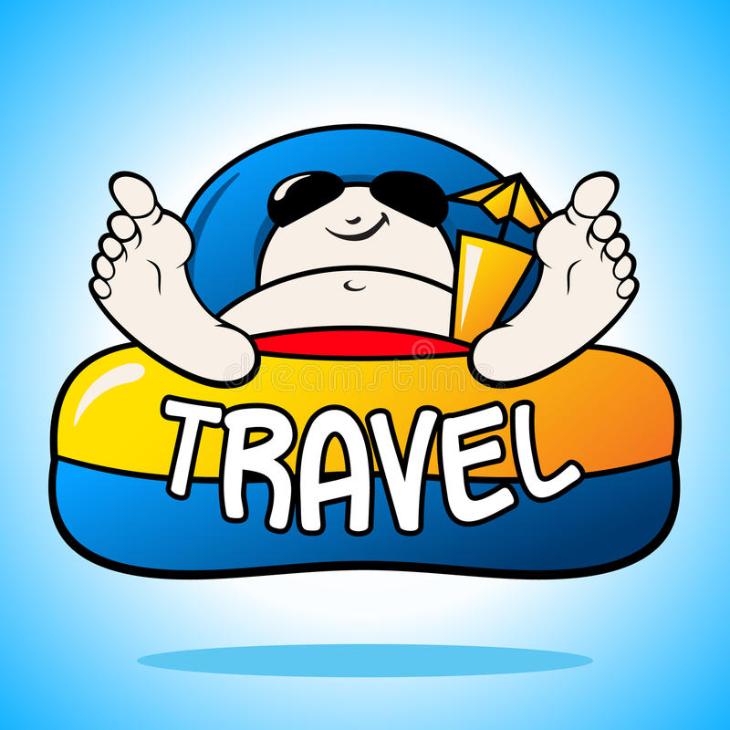 Download Turista En Muestra De Las Vacaciones Stock de ilustración - Ilustración de ocio, atractivo: 42434990