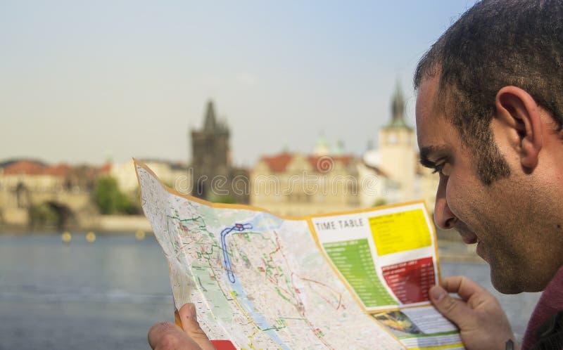 Turista en Praga imagen de archivo